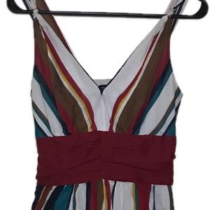 The Limited Sz 2 striped multicolored dress